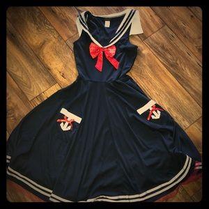 Ladies Dreamgirl sailor dress costume sz small